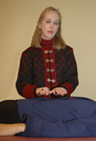 Woman practicing Reiki