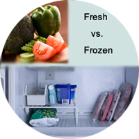 Fresh vegetables vs. frozen vegetables