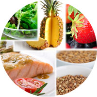 Collage of foods that decrease inflammation