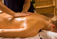 Massage using essential oils