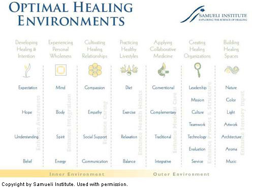 Samueli Institute chart - optimal healing environment