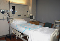 hospital room with equipment