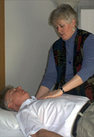 patient receiving healing touch