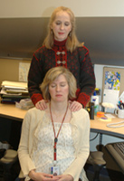 Reiki treatment in office setting
