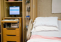 hospital bed and equipment