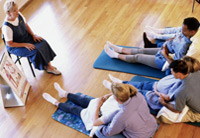 three couples attending a childbirth class