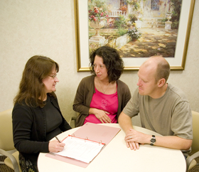 consulting on birth plan with provider