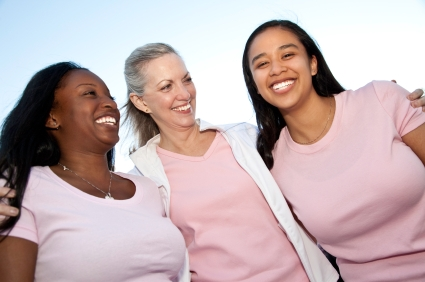 Three woman smiling together