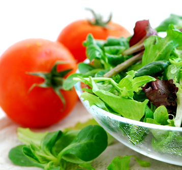 delicious salad with tomato