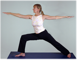 yoga warrier 2 pose