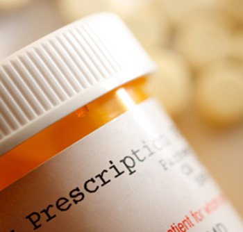 close up of a prescription pill bottle
