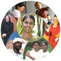 Collage of ethnic persons