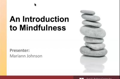 Introduction to Mindfulness webinar