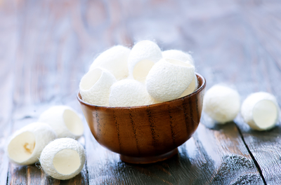 bowl of cotton balls